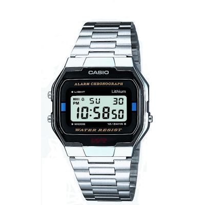 Casio Classic Leisure Herrenchronograph in Silber A163WA-1QES