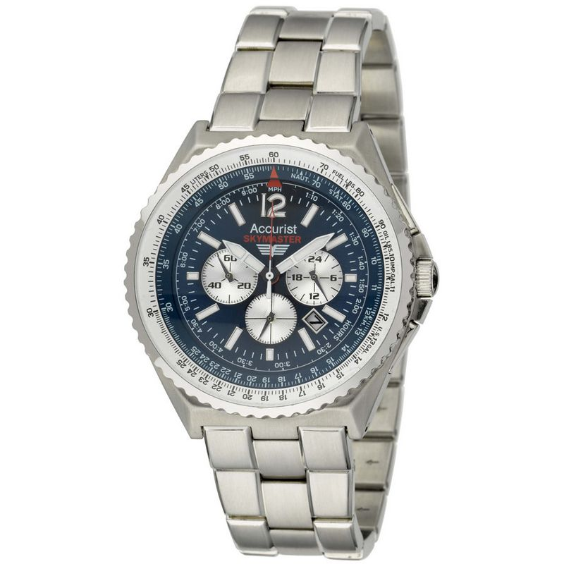 Mens Accurist Skymaster Chronograph Watch MB754N