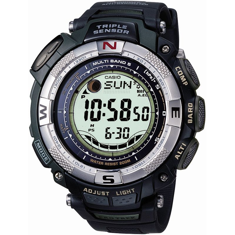Mens Casio Pro Trek Alarm Chronograph Watch PRW-1500-1VER