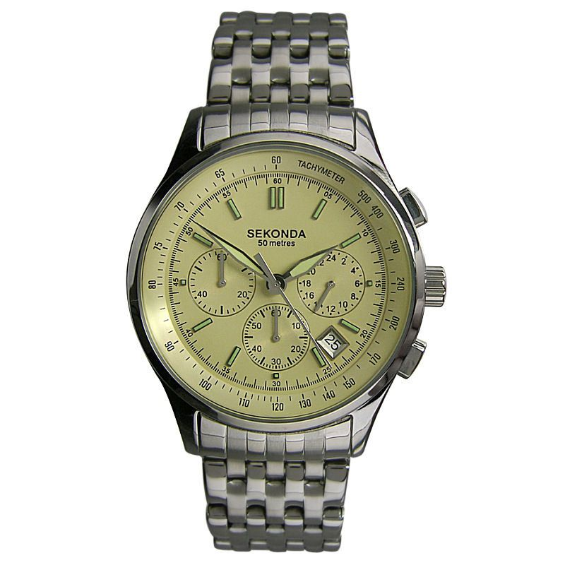 Mens Sekonda Chronograph Watch 3921