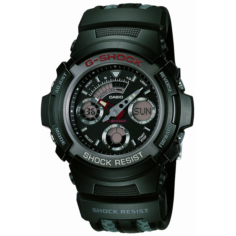 Mens Casio G-Shock Alarm Chronograph Watch AW-591CL-1AER