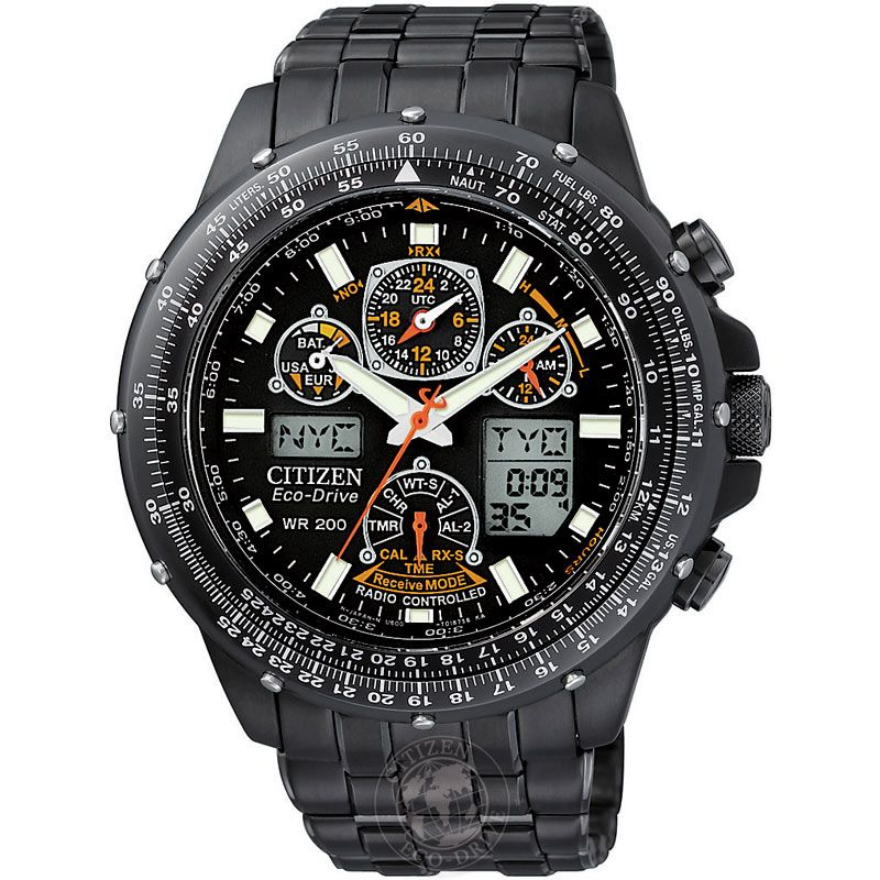 Mens Citizen Skyhawk AT Alarm Chronograph Radio Controlled Watch JY0005-50E