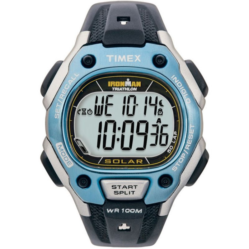 Mens Timex Indiglo Ironman Triathlon Solar Alarm Chronograph Solar Powered Watch T5J271