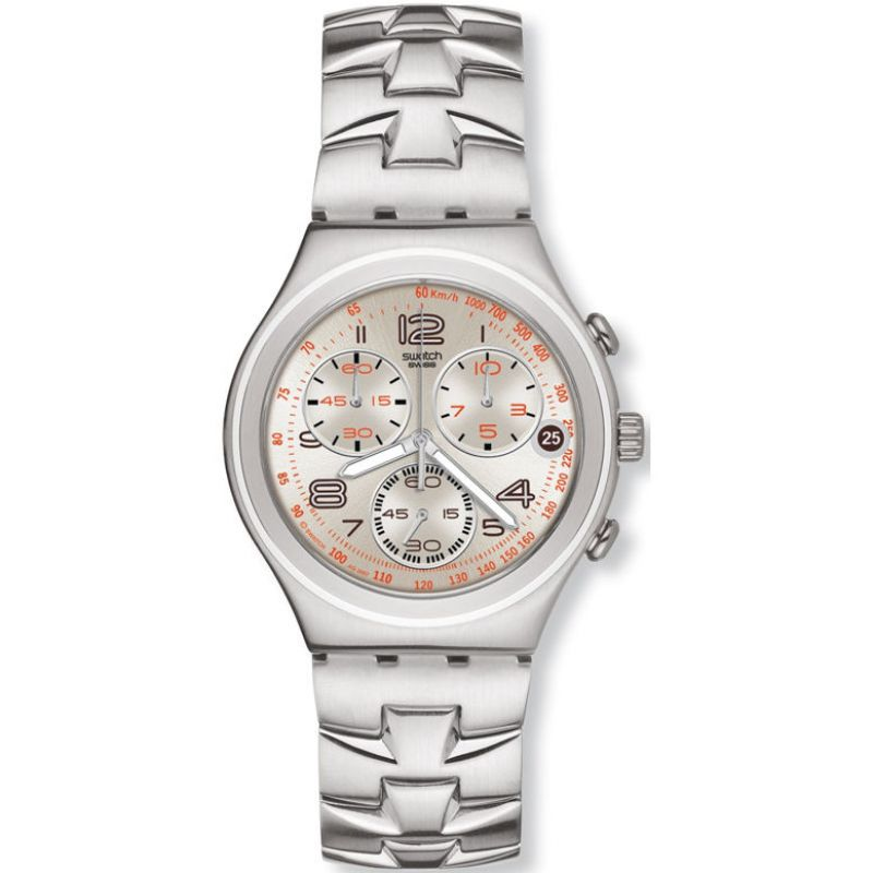 Mens Swatch Fast Code Chronograph Watch YCS502G