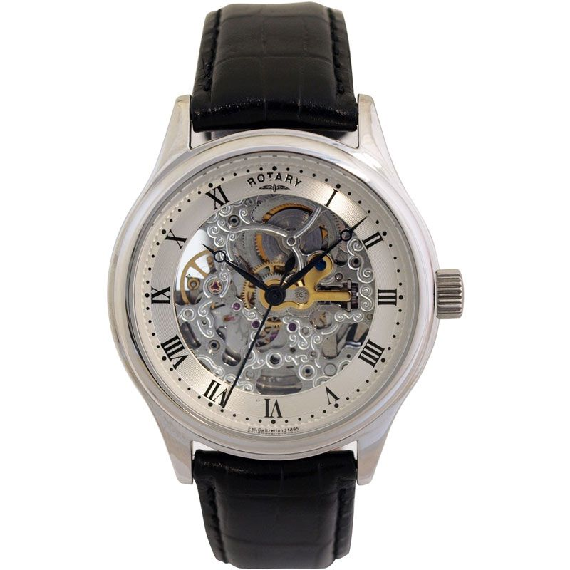 Mens Rotary Vintage Skeleton Automatic Watch GS02518/06