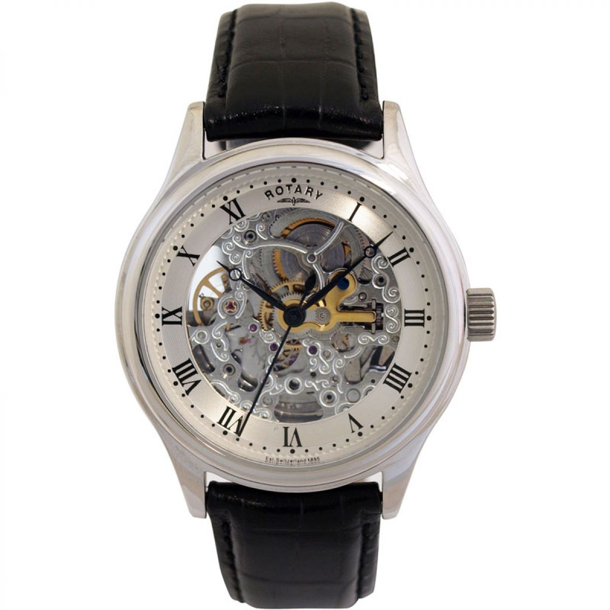 Gents rotary vintage skeleton watch gs02518 06 for Classic skeleton watch