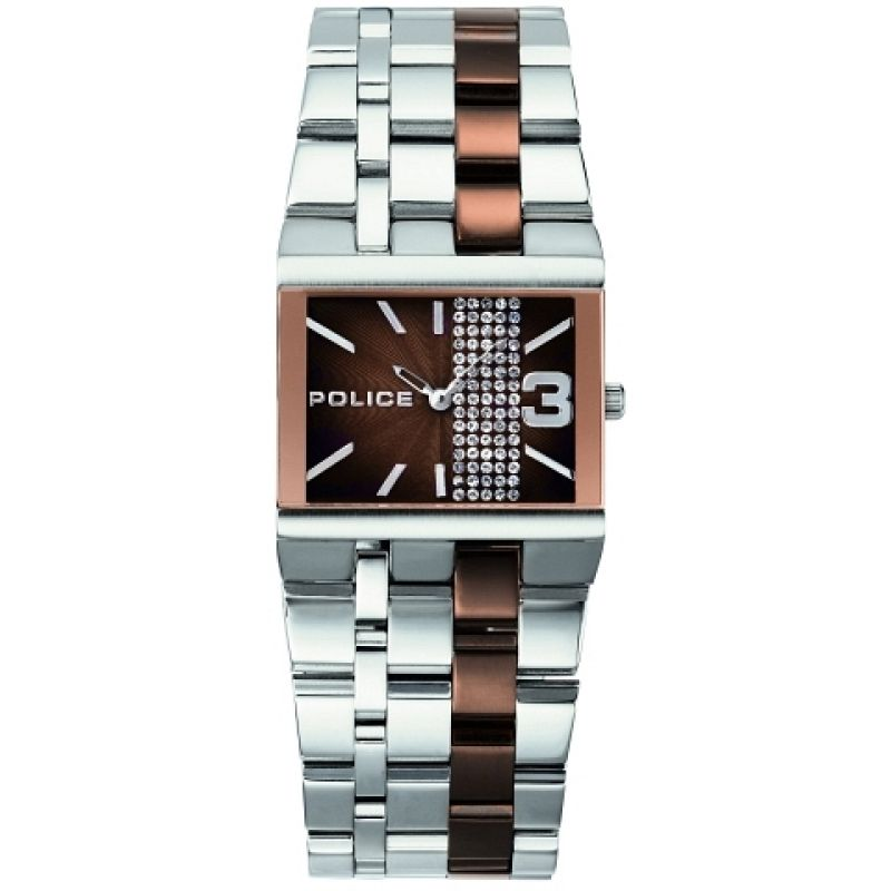 Ladies Police Glamour Square X Watch 10501BST/12M