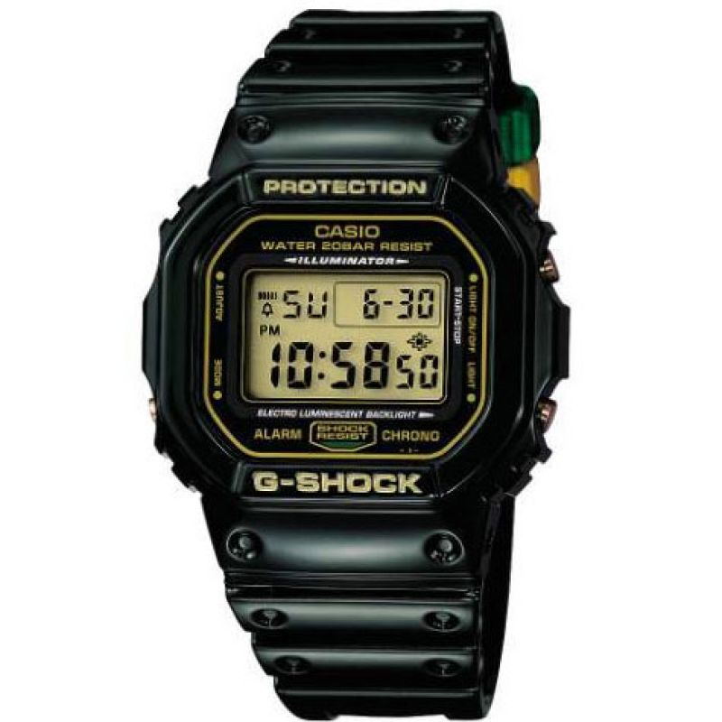 Mens Casio G-Shock Rastafarian Edition Alarm Chronograph Watch DW-5600R-3DR