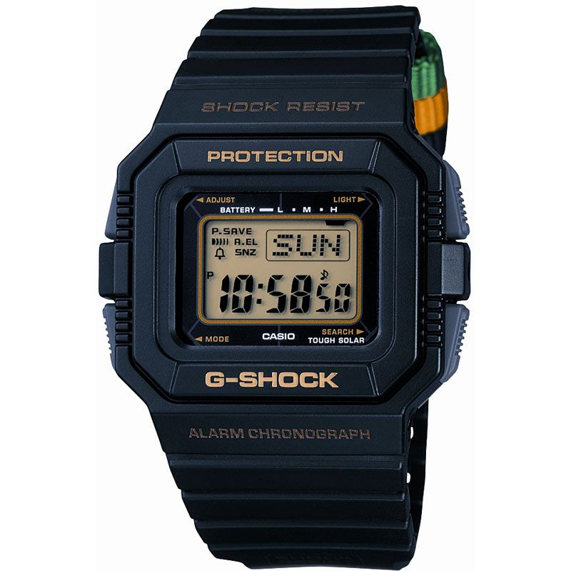 Mens Casio G-Shock Rastafarian Edition Alarm Chronograph Watch G-5500R-1DR