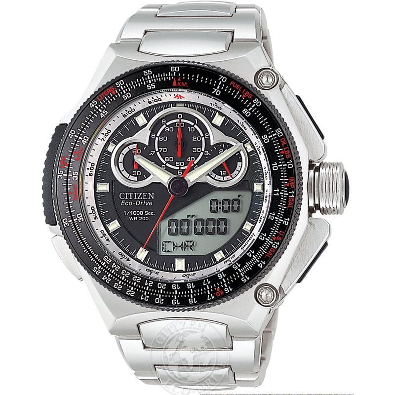 Mens Citizen Promaster SST Alarm Chronograph Watch JW0010-52E