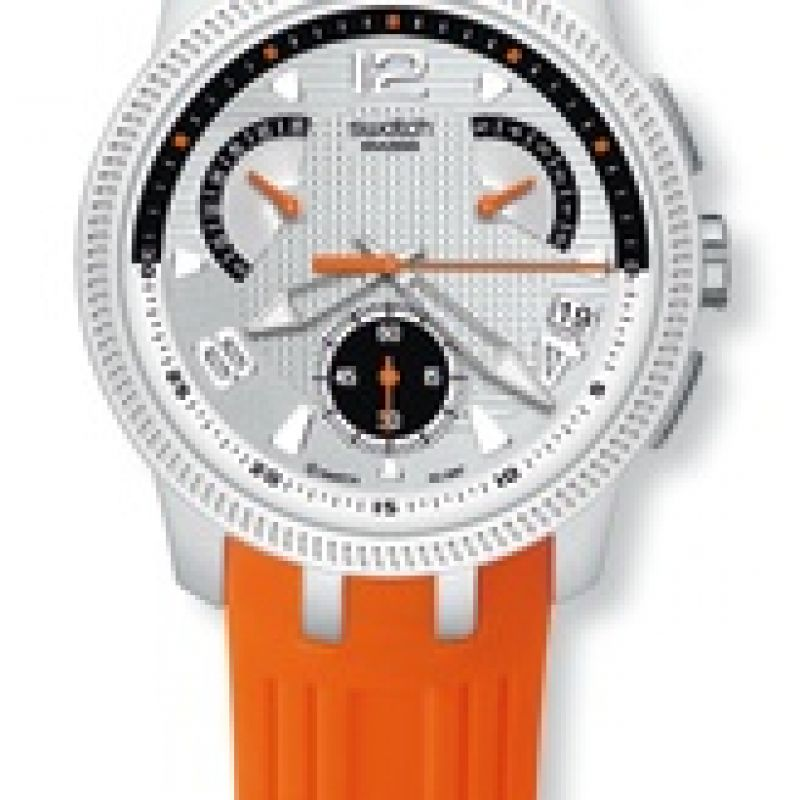 Mens Swatch Bring Back Chronograph Watch YRS405