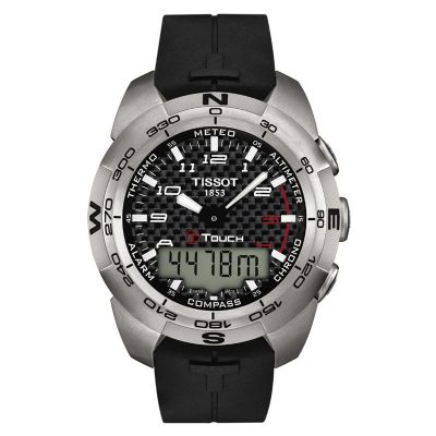 a9394525920 Mens Tissot T-Touch Expert Titanium Alarm Chronograph Watch T0134204720200