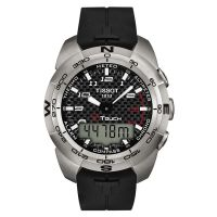 Mens Tissot T-Touch Expert Titanium Alarm Chronograph Watch