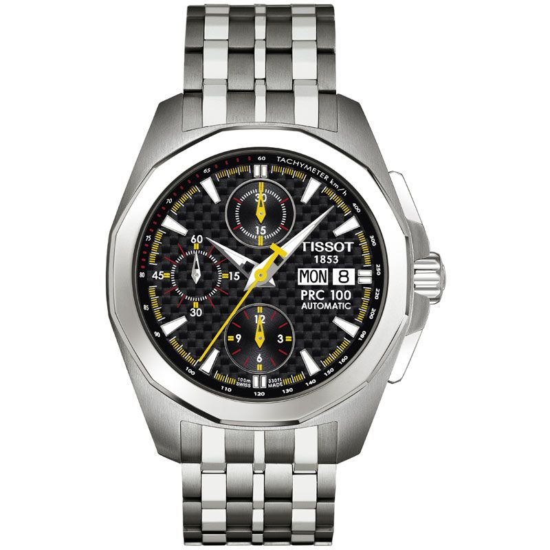 Mens Tissot PRC100 Valjoux Automatic Chronograph Watch T0084141120100