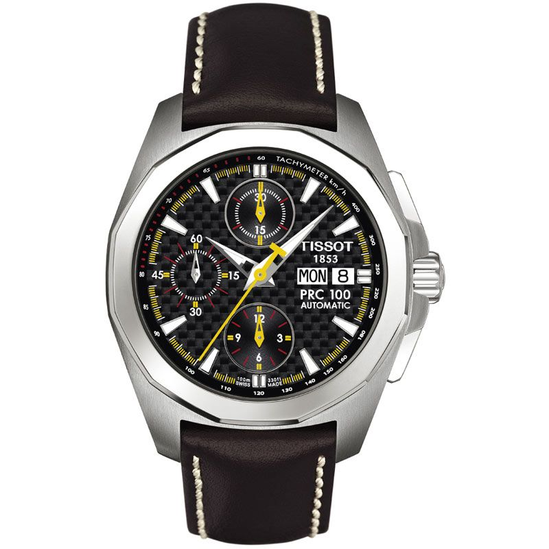 Mens Tissot PRC100 Valjoux Chronograph Watch T0084141620100