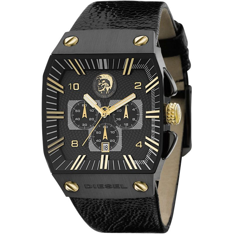 Mens Diesel Black Label Chronograph Watch DZ9035