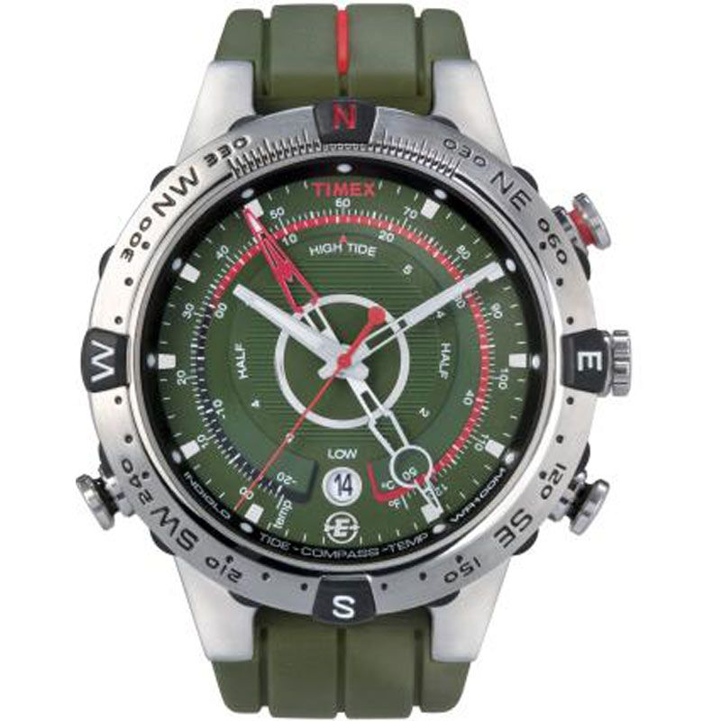 Mens Timex Indiglo Expedition E-Tide Temp Compass Watch T49705