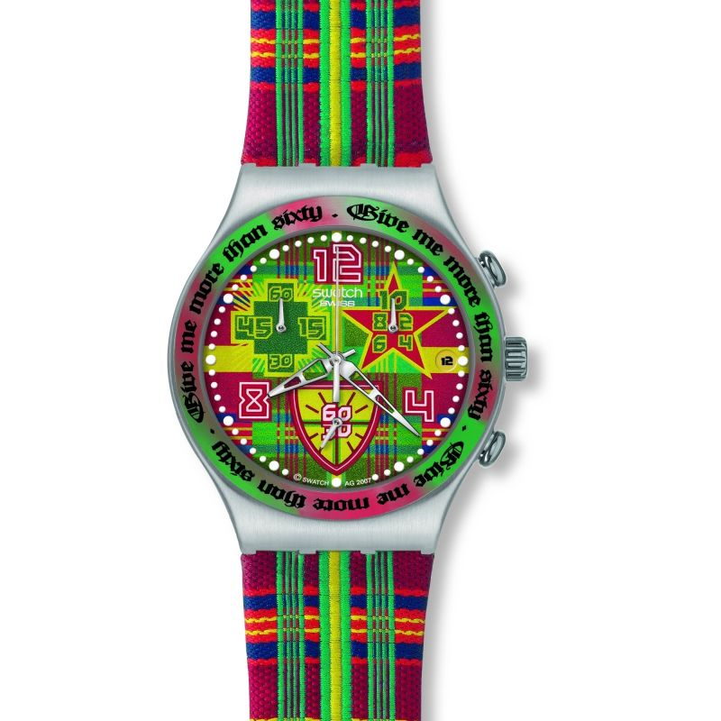 Mens Swatch What Do You Want Chronograph Watch YCS505