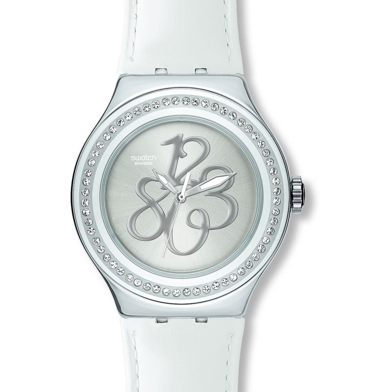 Ladies Swatch Pearly Gloss Watch YNS107