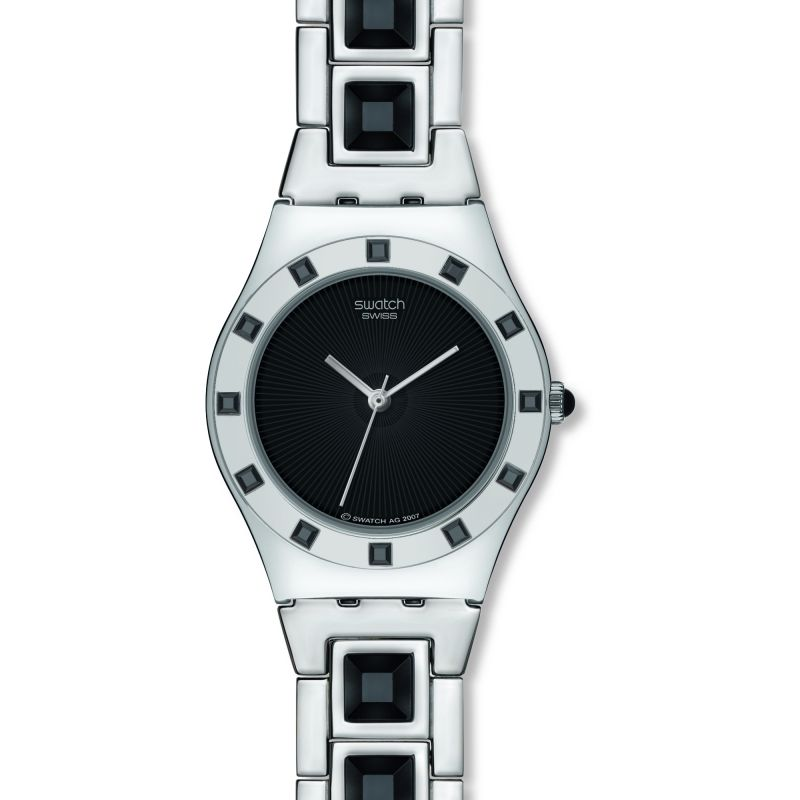 Ladies Swatch Nuit Sauvage Watch YLS155G