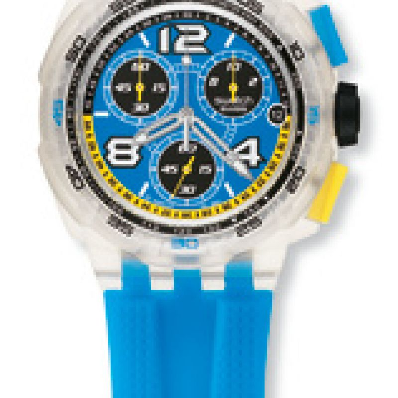 Mens Swatch Smooth Wave Chronograph Watch SUIK401