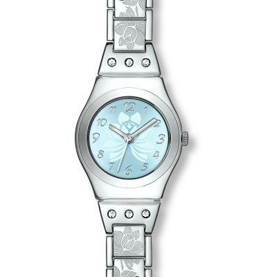 Swatch Irony Small Flower Box Damenuhr in Silber YSS222G