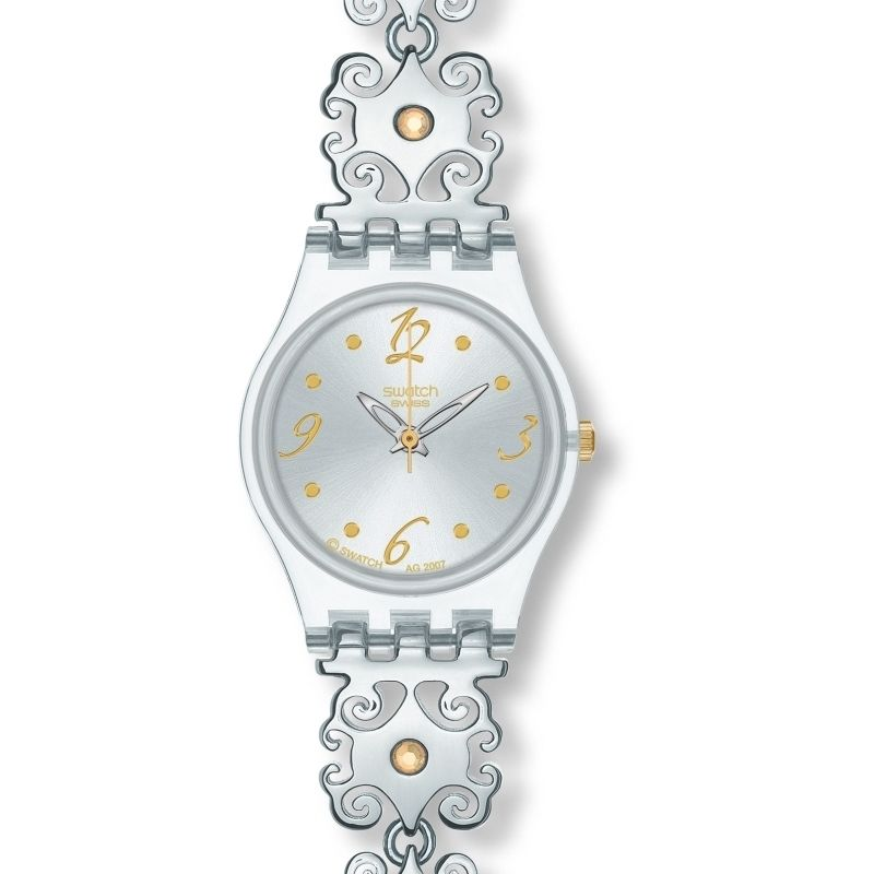 Ladies Swatch Crystal Lace Watch LK294G
