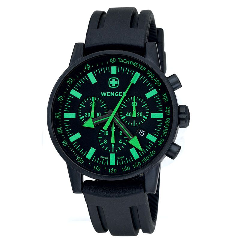 Mens Wenger Commando SRC Glacier Green Chronograph Watch 70891