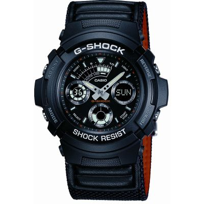 Mens Casio G-Shock Alarm Chronograph Watch AW-591MS-1AER