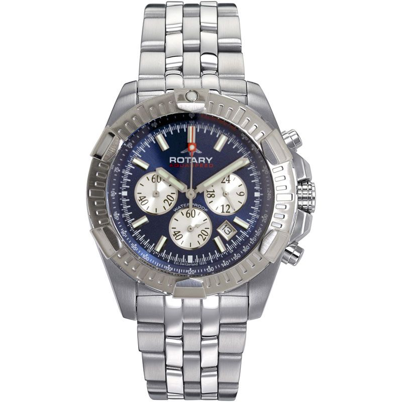 Mens Rotary Aquaspeed Chronograph Watch AGB00001/C/05