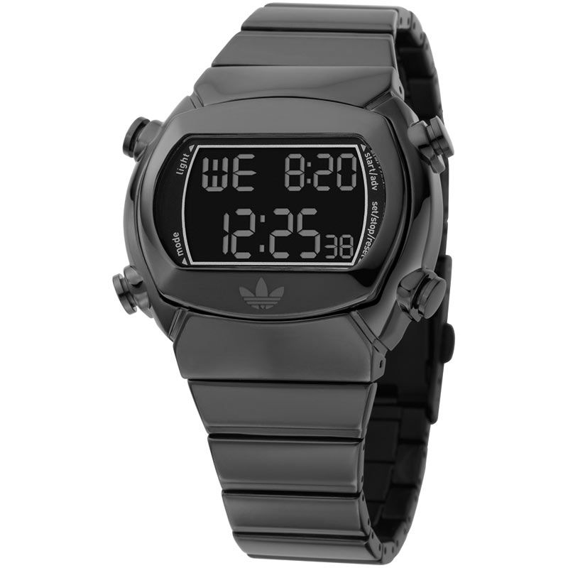 Unisex Adidas Originals Black Alarm Chronograph Watch ADH1844