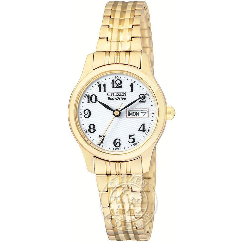 Ladies Citizen Eco-drive Ladies Expansion Bracelet Stainless Steel Watch EW3152-95A