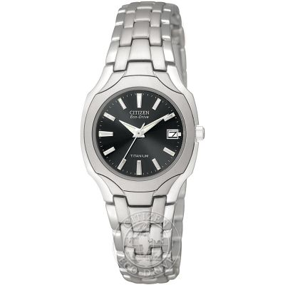 Citizen Titanium Damenuhr in Silber EW1400-53H