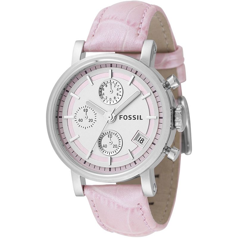 Ladies Fossil Chronograph Watch ES2201