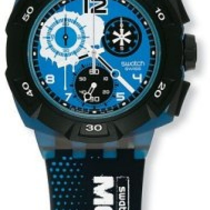 Mens Swatch Big Mountain Pro Chronograph Watch SUKI100E