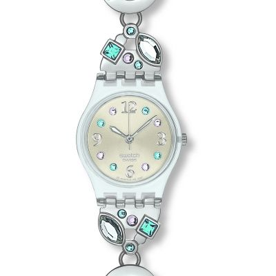 Ladies Swatch Menthol Tone Watch LK292G