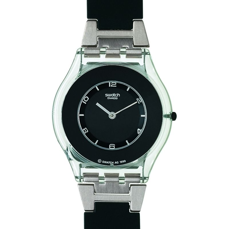 Ladies Swatch Pure Black Watch SFK116