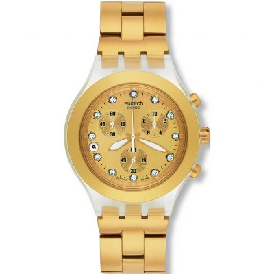 Swatch Irony Diaphane Full-Blooded Gold Unisexchronograph in Gold SVCK4032G