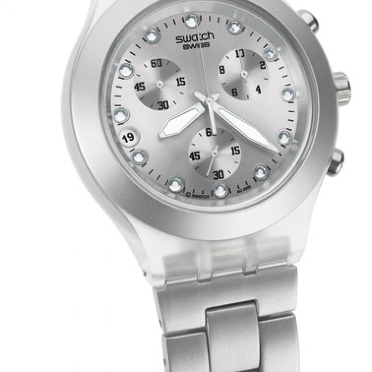 Montre Femme Swatch Full Blooded Silver