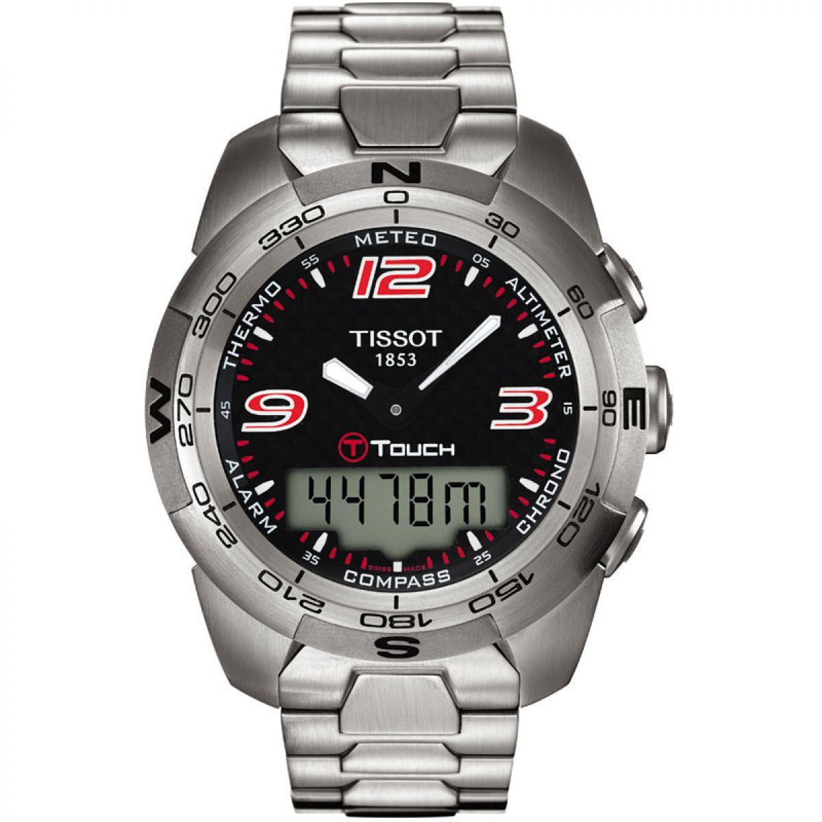 gents tissot t touch expert alarm chronograph watch t0134201105700 rh watchshop com tissot t touch expert solar user guide tissot t-touch expert titanium user manual
