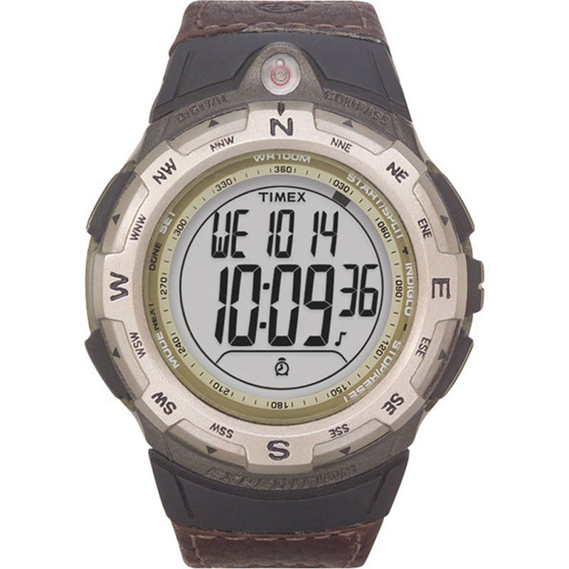 Mens Timex Indiglo Expedition Compass Alarm Chronograph Watch T42761