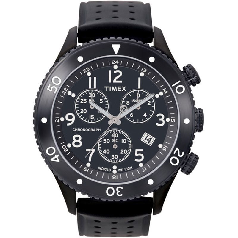 Mens Timex Indiglo T Series Chronograph Watch T2M708