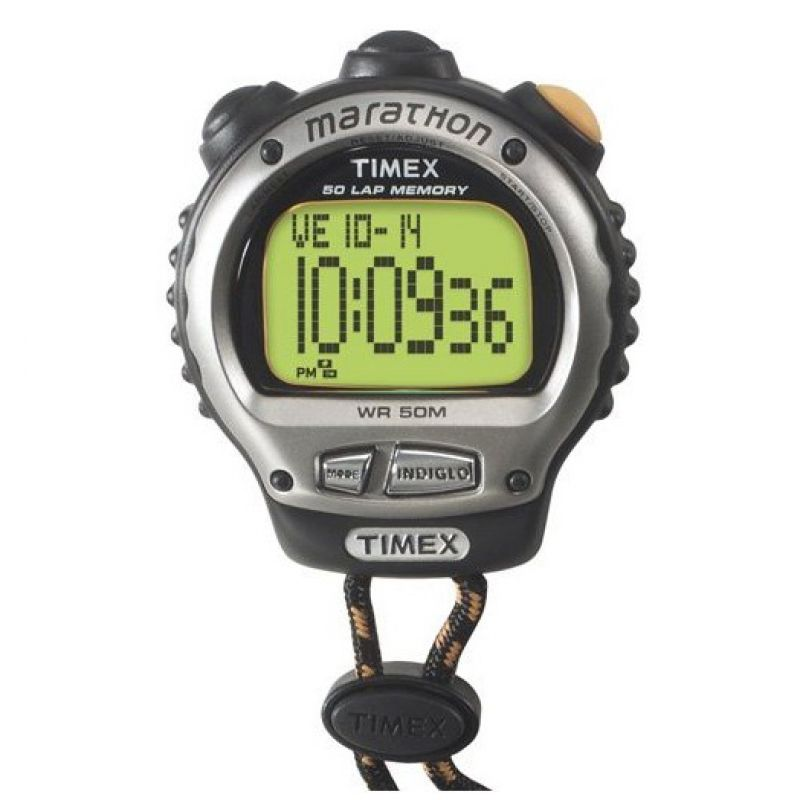 Timex Indiglo Marathon Pocket Alarm Chronograph Watch T5G811