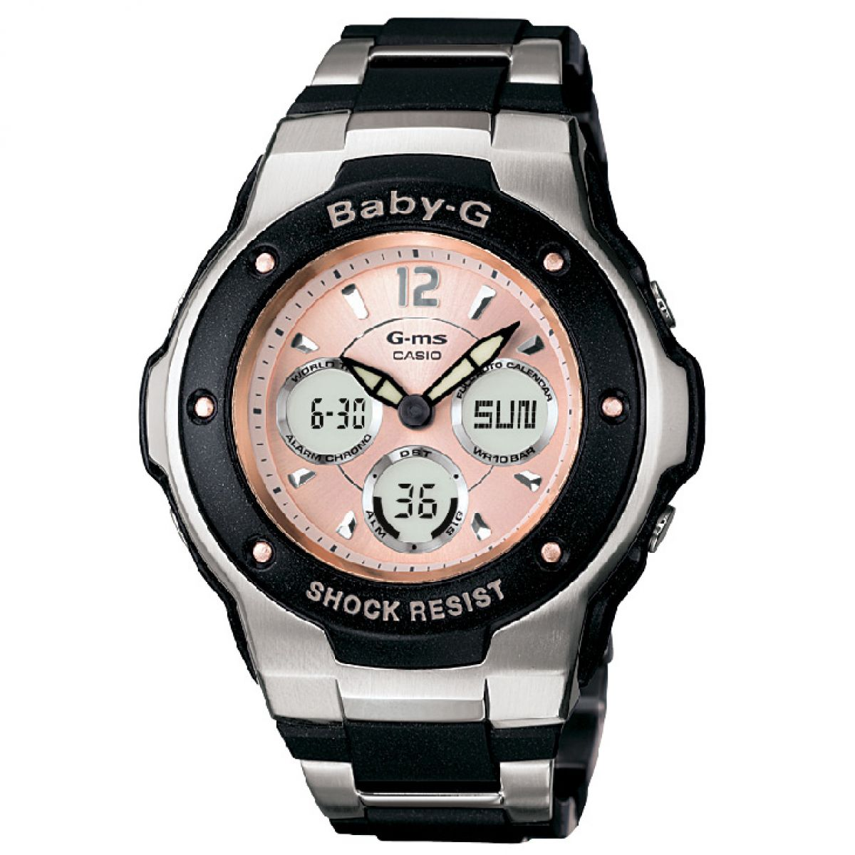 ladies casio baby g alarm chronograph watch msg 300c 1ber rh watchshop com Baby G -Shock Watch Manual Baby G- Shock Watches for Boys
