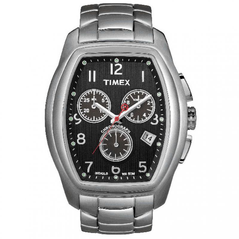 Mens Timex Indiglo Chronograph Watch T2M987