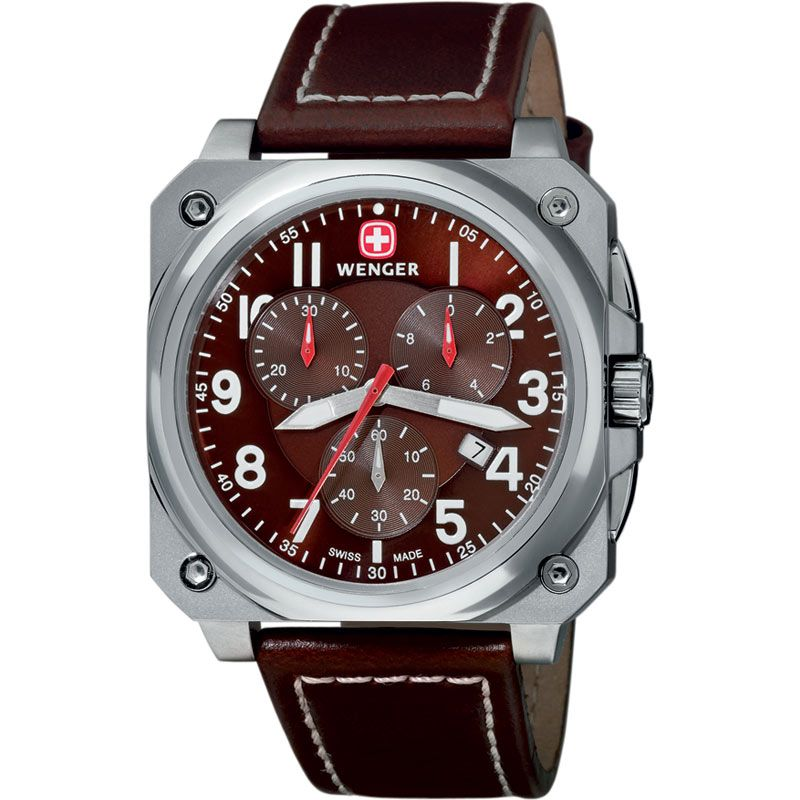 Mens Wenger Cockpit Chronograph Watch 77014
