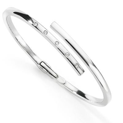 Jewellery 9ct White Gold Bangle