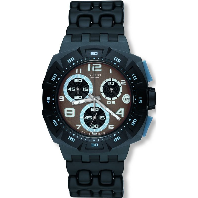 Mens Swatch Follow the Track Chronograph Watch SUIM401