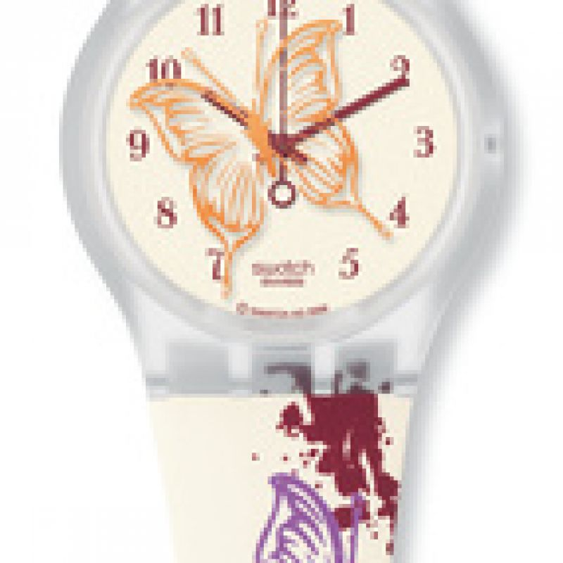Ladies Swatch Butterfly Spots Watch SUJK143