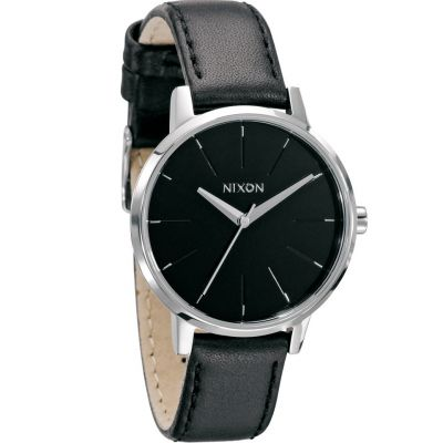 Nixon The Kensington Leather Dameshorloge Zwart A108-000